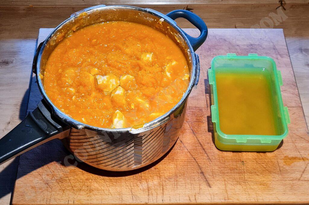 Morosche Möhrensuppe fertig gekocht
