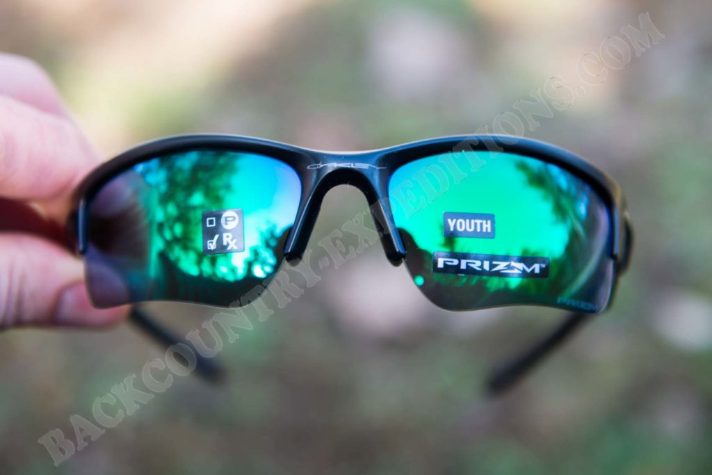 Oakley Quarter Jacket Youth Matte Black - Prizm Jade Iridium