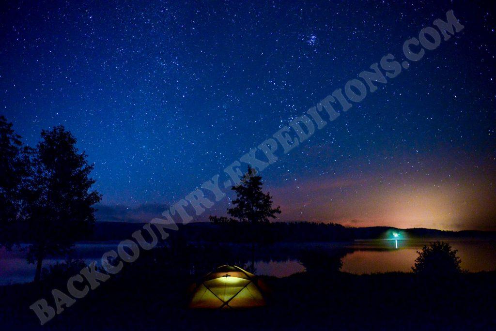 Hilleberg Saivo unter Sternenhimmel