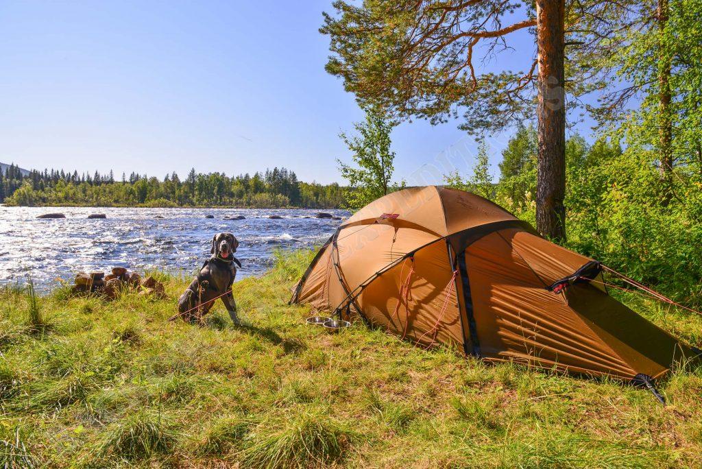 Hilleberg Saivo am Piteälven Schweden