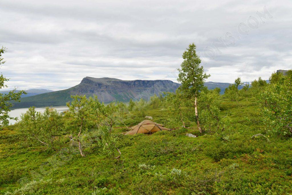 Hilleberg Saivo am Rappadalen im Sarek Nationalpark Schweden