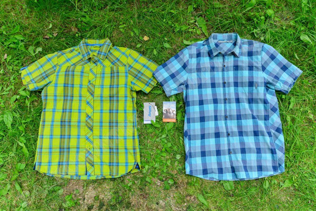 links: Materialmix aus 60% Biobaumwolle und 40% recyceltem Polyester