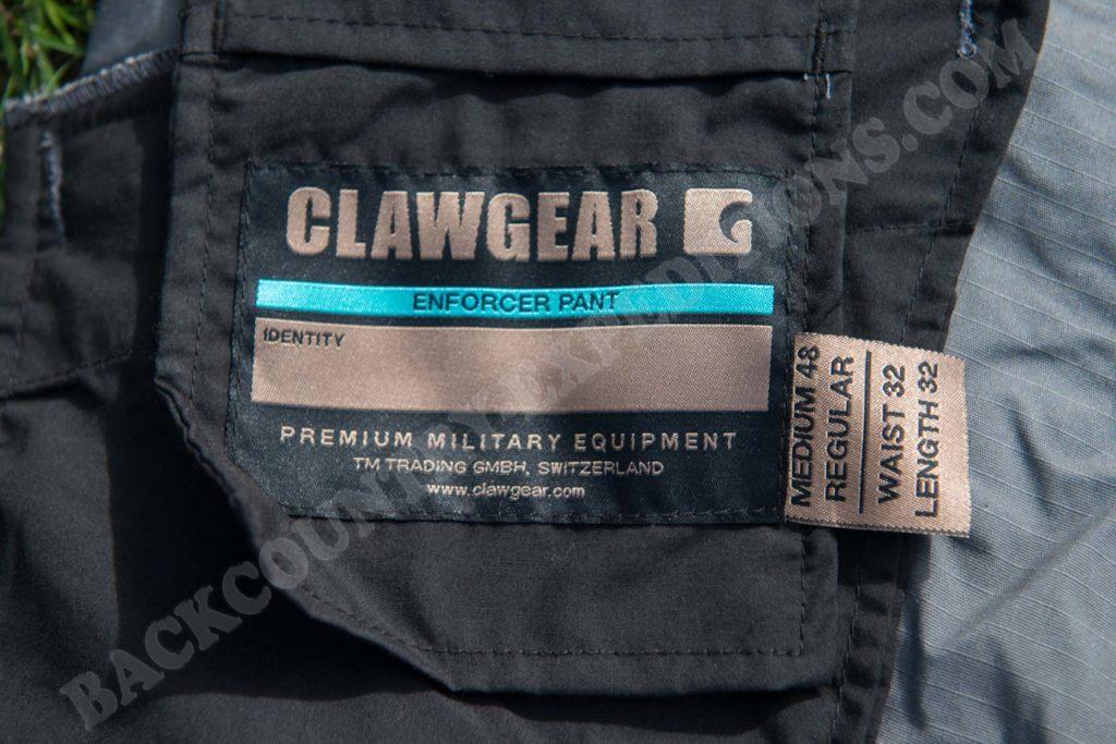 Clawgear Enforcer Flex Pant Technische Daten