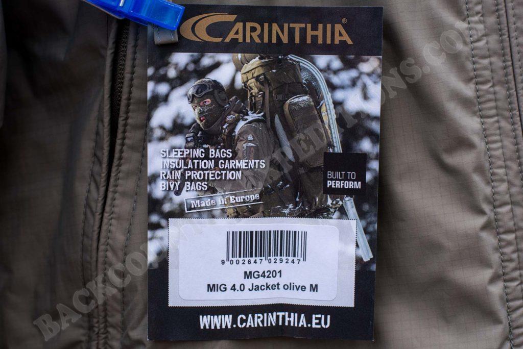 Carinthia HIG 4.0 Jacket Daten