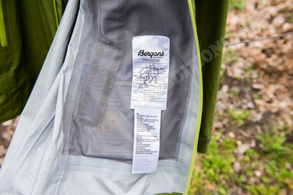Bergans Airojohka Jacket Technische Daten