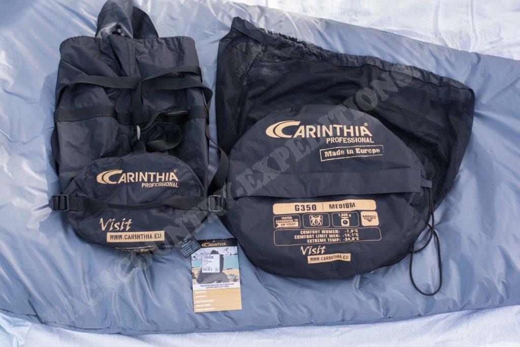 Carinthia G350 Packaack und Aufbewahrungsbeutel