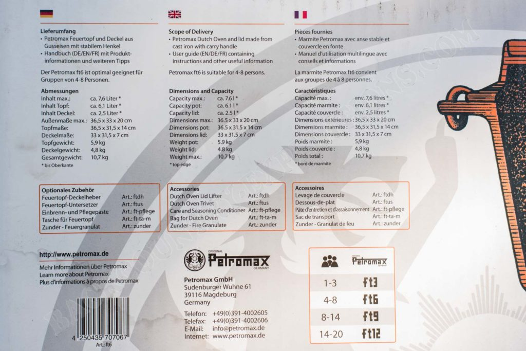 Petromax Feuertopf daten