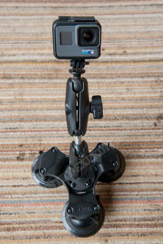 Ram Mount Triple Twist Lock Suction Cup Base GoPro