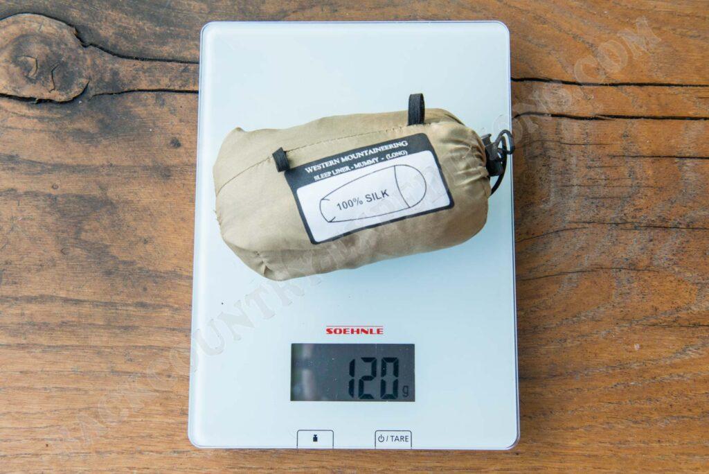 Western Mountaineering Tioga Sleep Liner Gewicht
