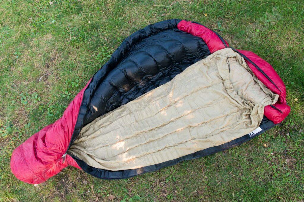 Schlafsack Inlet aus reiner Seide