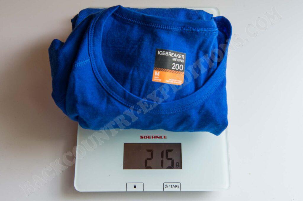 Icebreaker Mens Oasis LS Crewe Gewicht