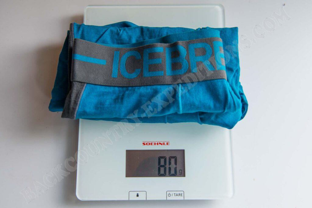 Icebreaker Anatomica Long Boxers Gewicht