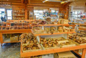 Souvenir-Shop in Inari, Finnland