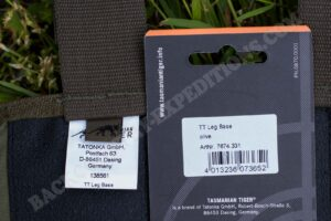 Tasmanian Tiger Leg Base Label