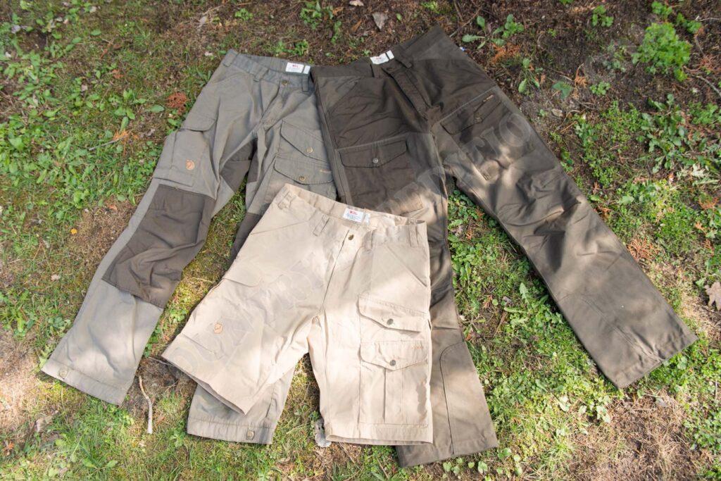 Fjällräven Arktis Trousers & Fjällräven Vidda Pro Trousers & Fjällräven Barents Pro Shorts