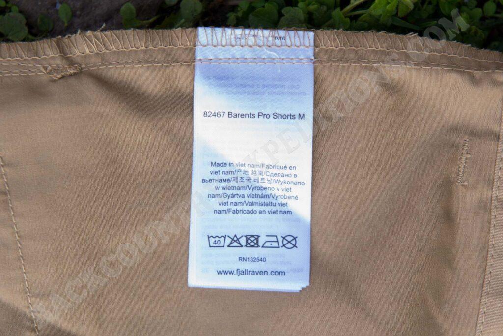 Fjällräven Barents Pro Shorts M Label