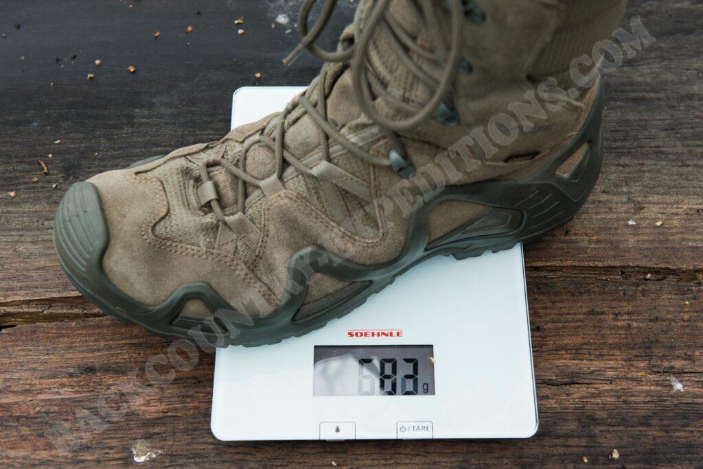 Lowa Zephyr GTX HI TF Gewicht