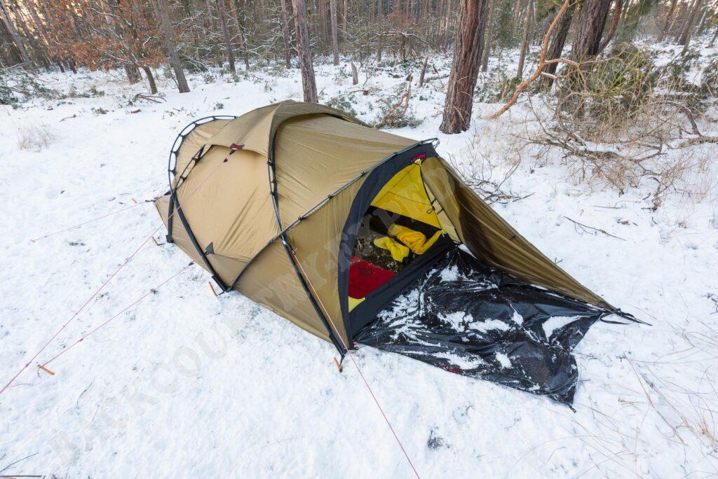 Hilleberg Tarra im Schnee