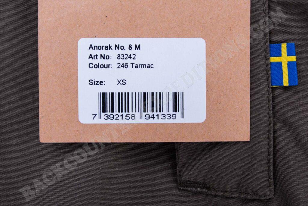 Fjällräven Anorak No. 8 M tarmac XS