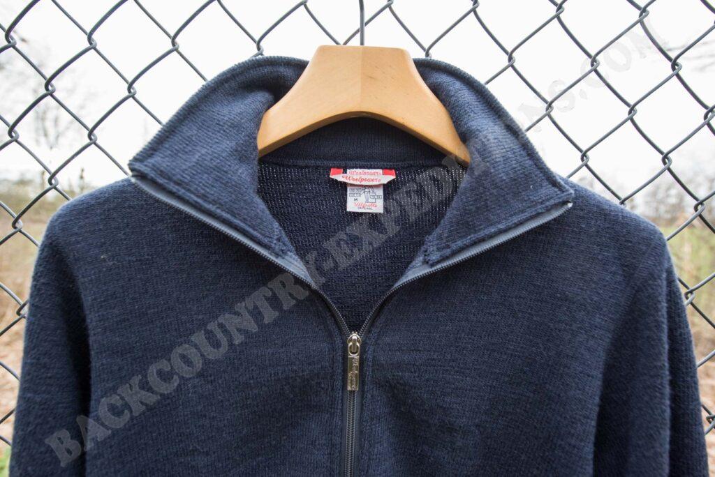 Woolpower Full Zip Jacket 600 Kragen