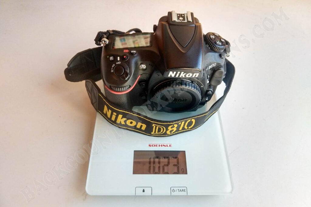 Nikon D810 Gewicht