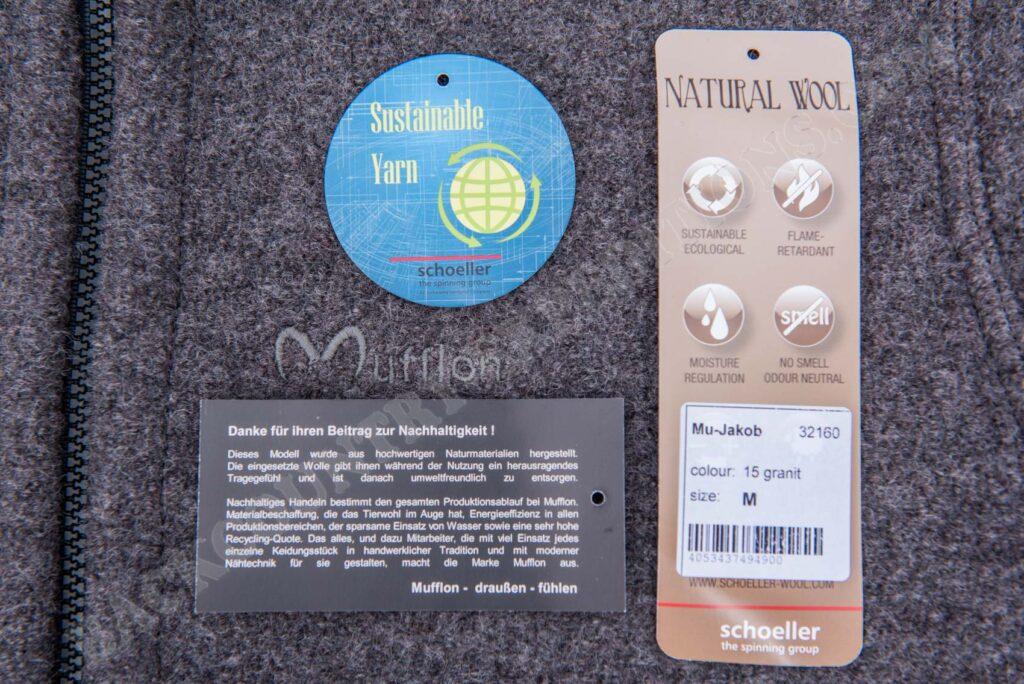 Mufflon W300 Jakob schoeller wool