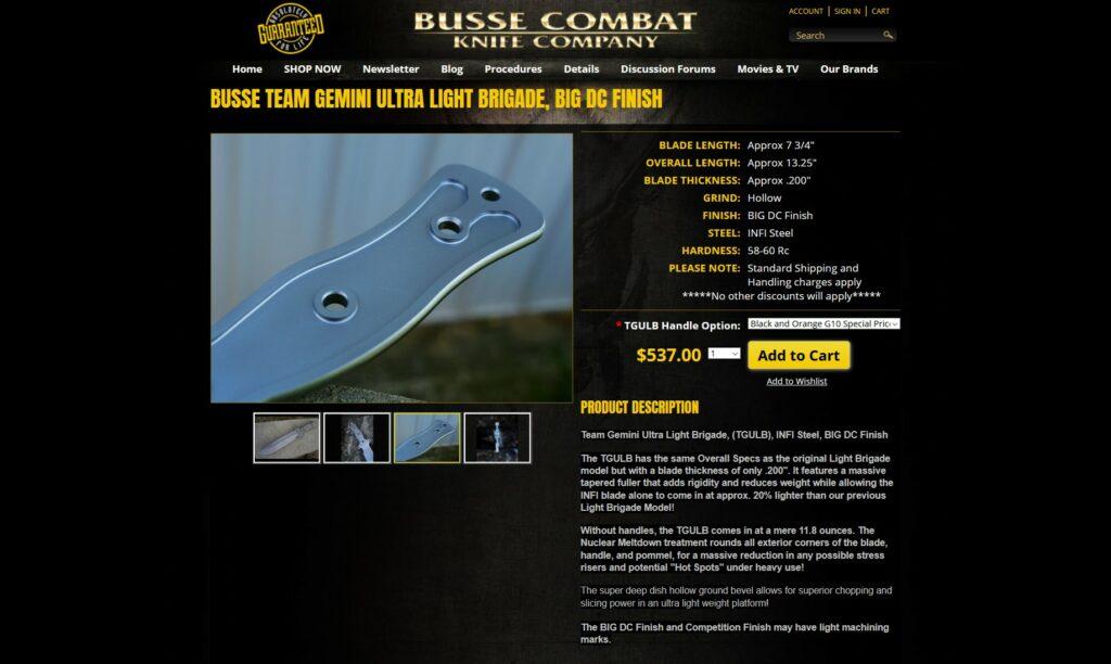 Busse Combat website