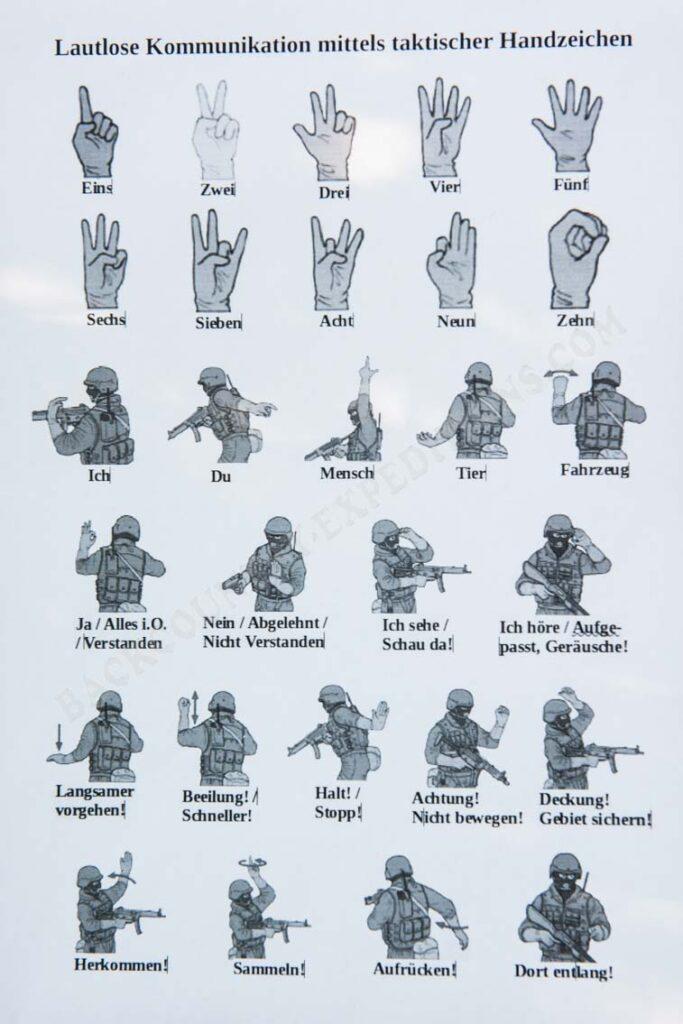 Taktische Handzeichen - Lautlose Kommunikation