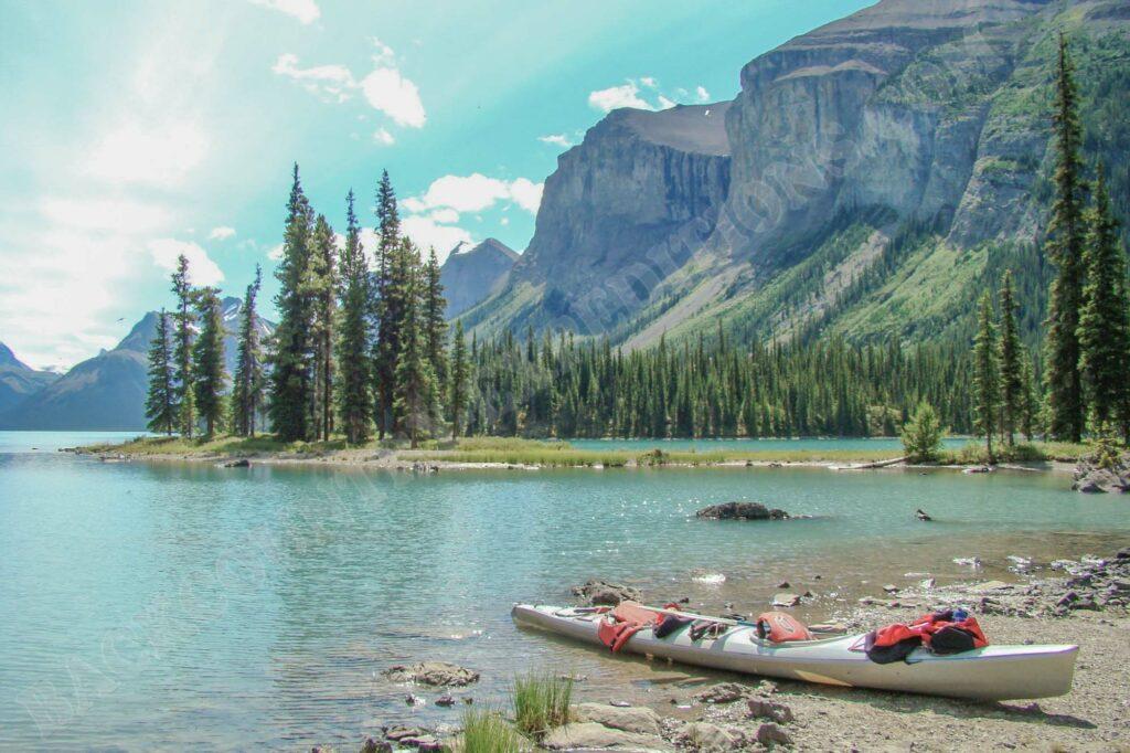 Paddeln in den kanadischen Rocky Mountains