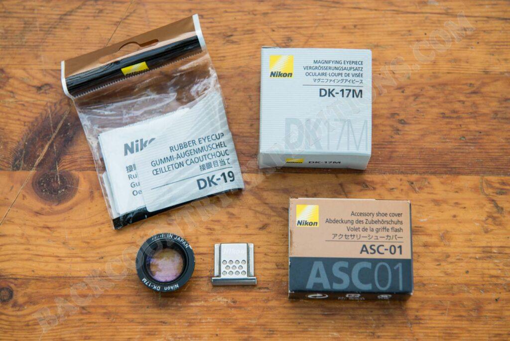 Nikon DK-17M + DK-19 + ASC-01